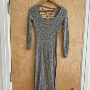 Urban Outfitter Grey Backless maxi, XS